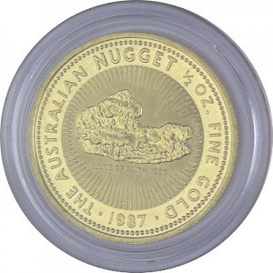 Australian Kangourou/Nugget 1/2oz d'or fin - 1987