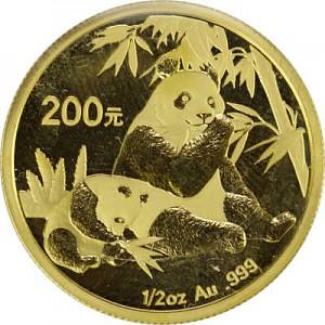 Chine Panda 1/2oz d'or fin - 2007