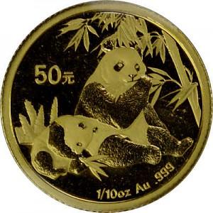 Chine Panda 1/10oz d'or fin - 2007