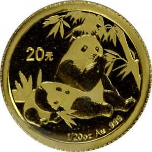 Chine Panda 1/20oz d'or fin - 2007