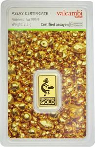 Lingot 2,5g d'or fin - Auropelli Responsible-Gold