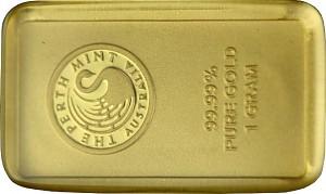 Lingot 1g d'or fin - Perth Mint Kangourou