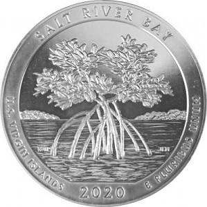 America the Beautiful - Virgin Islands Salt River Bay 5oz d'argent fin - 2020