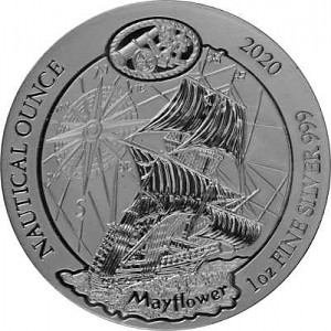 Série nautique du Rwanda - Mayflower 1oz d'argent - 2020 (TVA normale)