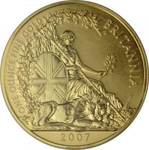 Britannia 1oz d'or fin - 2007