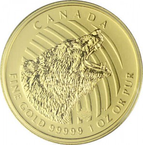 Call of the Wild - Grizzly 1oz d'Or fin - 2016