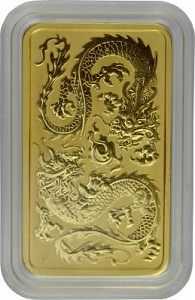 Perth Mint Rectangular Dragon 1oz d'or fin - 2020