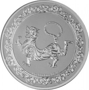 Niue Celestial Animals The White Tiger - 1oz d'argent fin - 2019