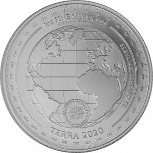 Terre de Terra de Tokelau 1 oz d'argent fin - 2020