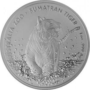 Australie Sumatra Tiger RAM (Zoo-Series) 1oz d'argent fin - 2020