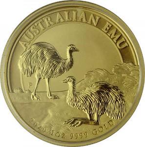 Australie Émeu 1oz d'or fin - 2020