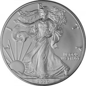 American Eagle 1oz d'Argent - 2020