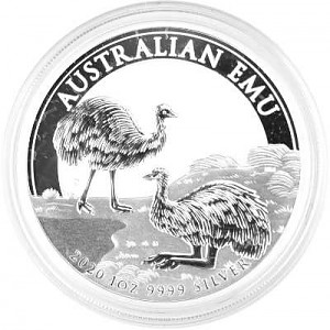 Emu Australie 1oz d'argent fin - 2020