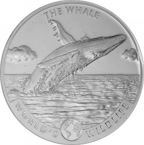 Kongo World's Wildlife - Baleine 1oz d'argent fin - 2020