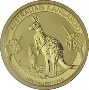 Australian Kangourou 1/4oz d'or fin - 2020