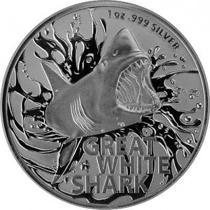 Great White Shark RAM 1 oz d'argent - 2021