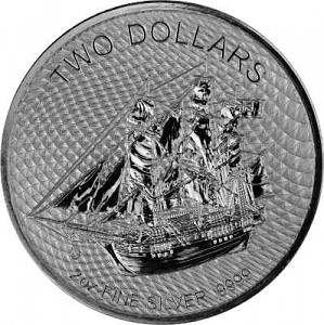 Cook Islands Bounty 2oz d'Argent - 2020