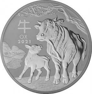 Lunar III Boef 1kg d'argent fin - 2021