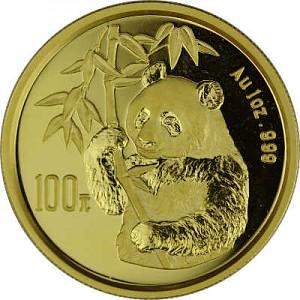 Chine Panda 1oz d'or fin - 1995