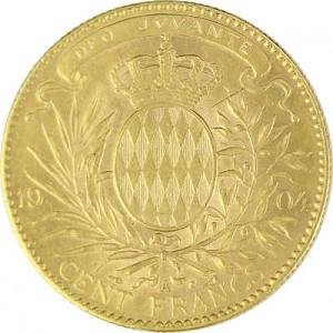 100 Francs Monaco Albèrt 24,04g d'or fin