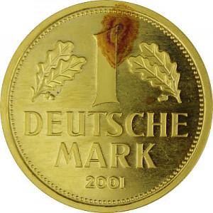 1 Mark allemand 12g d'or fin - 2001 deuxième choix