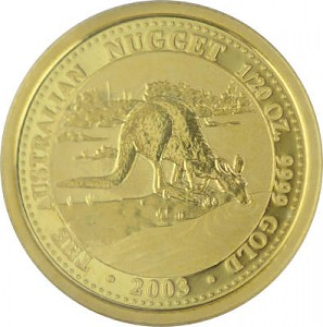 Australian Nugget/Kangourou 1/20oz d'or fin - 2003