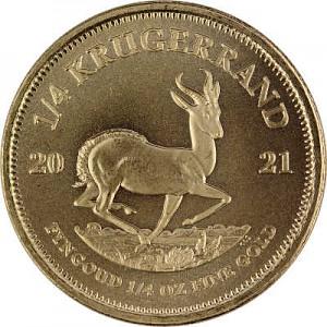 Krugerrand 1/4oz d'or fin - 2021