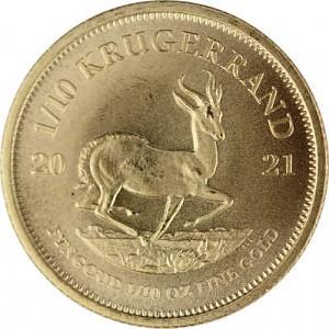 Krugerrand 1/10oz d'or fin - 2021