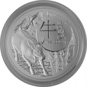 Lunar Boeuf Royal Australien Mint 1oz d'Argent - 2020