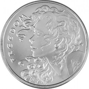 Freedom Girl 1oz d'argent fin