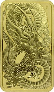 Perth Mint Rectangular Dragon 1oz d'or fin - 2021