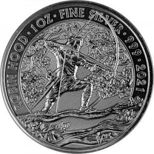 Grande-Bretagne Myths and Legends Robin Hood 1oz d'argent - 2021