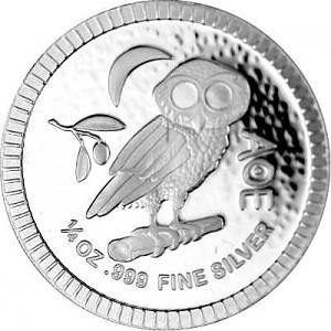Niue Athènes hibou 1/4oz d'argent fin - 2021