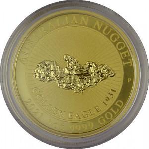 Australian Nugget 1oz1oz d'or fin - Golden Eagle 2021
