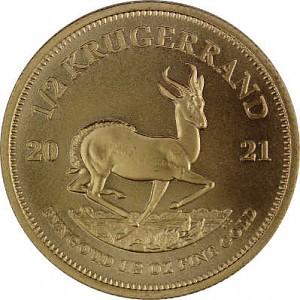 Krugerrand 1/2oz d'or fin - 2021