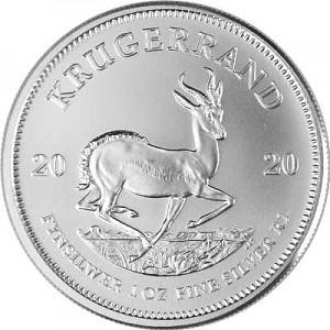 Krugerrand 1oz d'argent fin - différentes années