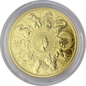 Queens Beasts Completer Coin 1oz d'or fin - 2021