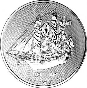 Îles Cook 1oz d'argent fin - 2021