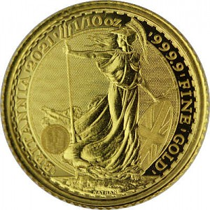 Britannia 1/10oz d'or fin - 2021