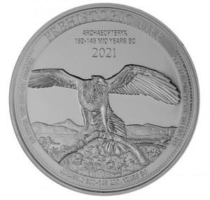 Congo Vie préhistorique - Archaeopteryx 1oz Silver 1oz d'argent fin - 2021