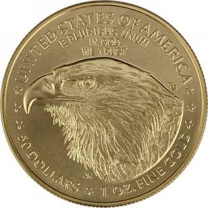 American Eagle Type 2 nouveau design 1oz d'or fin - 2021