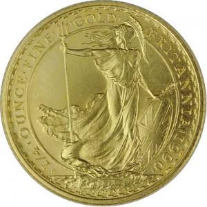 Britannia 1/4oz d'or fin 1987 - 2012