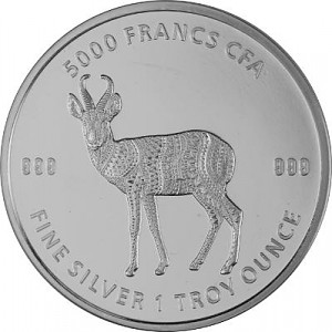 Tchad Mandala Antilope 1oz d'argent fin - 2021