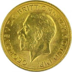 1 Livre anglaise Souverain George V 7,32g d'or fin