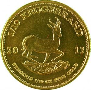 Krugerrand 1/10oz d'or fin