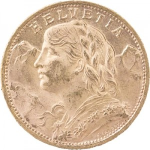 20 Francs suisse Vreneli 5,81g d'or fin