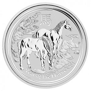 Lunar II Cheval 1kg d'argent fin - 2014