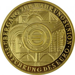 200 Euros 1oz Or 2002 Introduction de l'euro