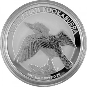 Kookaburra 1kg d'argent fin - 2011