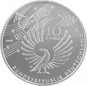 10 Euros Pièce Commémorative Allemagne 16,65g d'argent 2002 - 2010